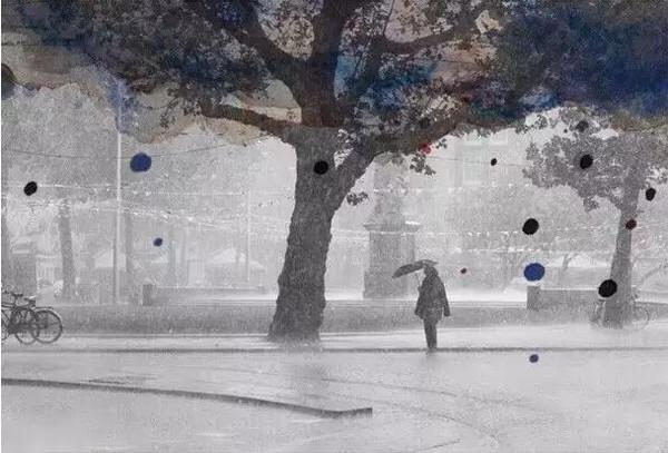 等你,在雨中