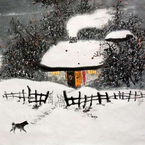 柴门闻犬吠,风雪夜归人